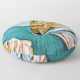 Corfu Greece Islands Digital Painting Floor Pillow