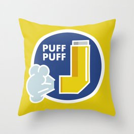 Puff Puff Throw Pillow