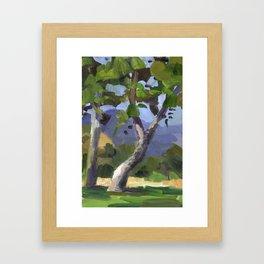 BETTE DAVIS PARK, plein air landscape by Frank-Joseph Paints Framed Art Print