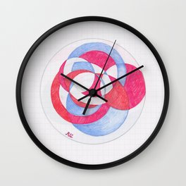 Cirque-cle #1 Wall Clock