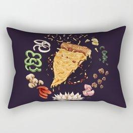 Pizza Mandala Rectangular Pillow