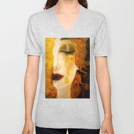 Freya's Golden Tears Viking Lore Unisex V-Neck