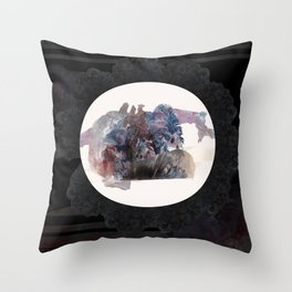 Psychedelic Wolves Throw Pillow