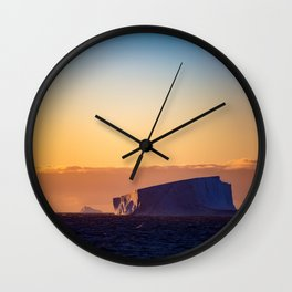Sunset Iceberg Wall Clock