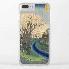 Spring Cherry Trees Blossoms Ukiyo-e Japanese Art Clear iPhone Case
