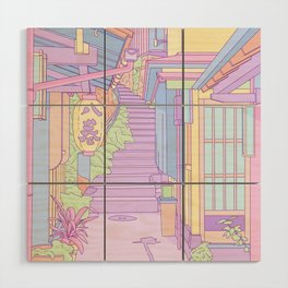 Lost in the Alleys of Japan Wood Wall Art