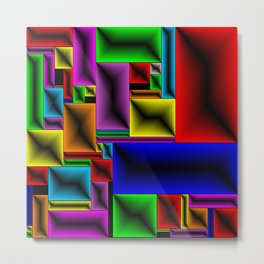 ColorBlox - Hammered Metal Print