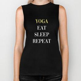 Yoga Eat Sleep Repeat Biker Tank