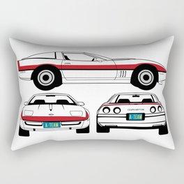 Face 1984 A-Team Chevrolet Corvette Rectangular Pillow