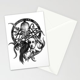 H P Lovecraft fanart Stationery Cards