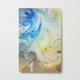 Swirling Flirtatious Abstract Happiness Metal Print
