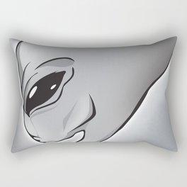 Halloween Theme [The Grey Alien] Rectangular Pillow
