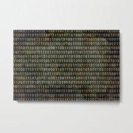 The Binary Code - Dark Grunge version Metal Print