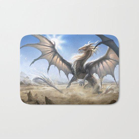 White Dragon Bath Mat