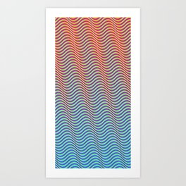 Waves 1A (hot to cold) Art Print