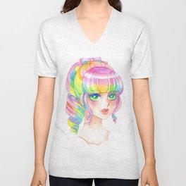 A Rainbow Doll 0824 Unisex V-Neck