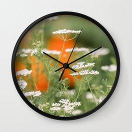 Cilantro Flowers Wall Clock