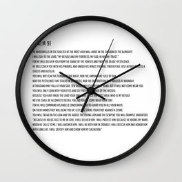 Psalm 91 #minimalism 3 Wall Clock