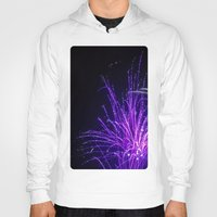 fireworks Hoodies featuring Fireworks by Eleven Collective