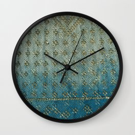 Faded Indigo Assuit Wall Clock