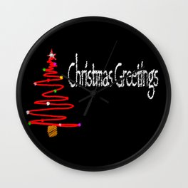 Christmas Blackboard Wall Clock