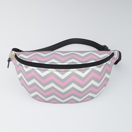 Pink and Grey Chevron Fanny Pack