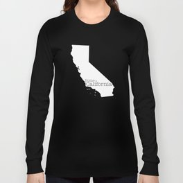 Home is California - state outline in gray Long Sleeve T-shirt