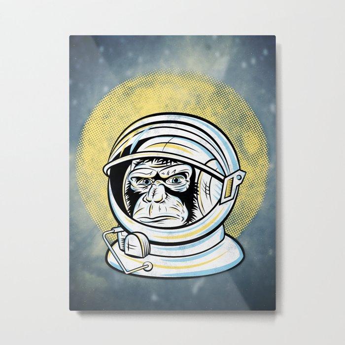 Space Ape Metal Print