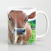 cows Mugs featuring Cows by Chris Klemens