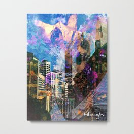 """Angels Over the City"" Metal Print"