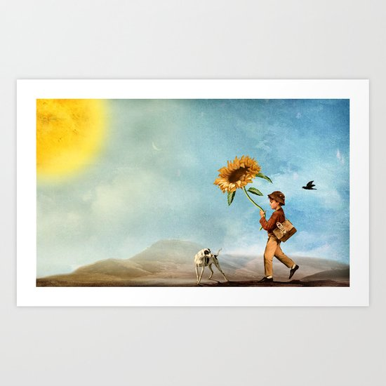 Follow the Sun Art Print