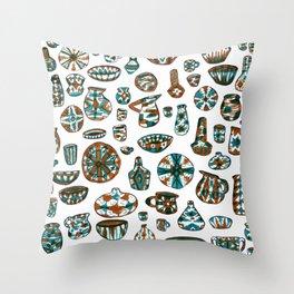 New Mexico Pottery Throw Pillow