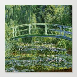 Water Lilies and the Japanese bridge - Claude Monet Canvas Print