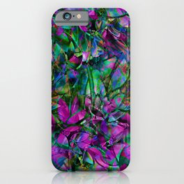 Floral Abstract Stained Glass G276 iPhone Case