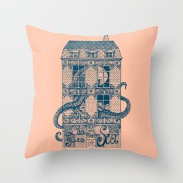 20 000 Leagues under the Sea Throw Pillow