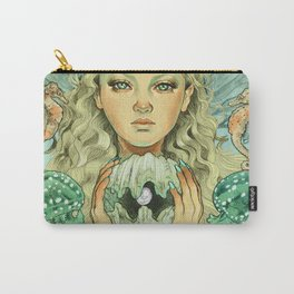 The Mermaid (color) Carry-All Pouch