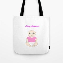 Pink Poop Baby Tote Bag