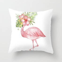 Flamingo Dreams Throw Pillow
