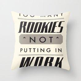 Rookies Throw Pillow
