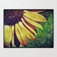 fleur de lis Canvas Prints featuring Sunflower Fleur De Lis by minx267