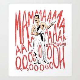 Freddie Bohemian Rhapsody Queen Art Print