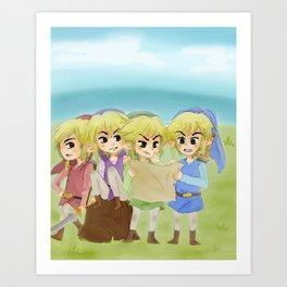 Zelda- 4 swords Art Print