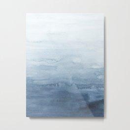 Indigo Abstract Painting | No. 4 Metal Print