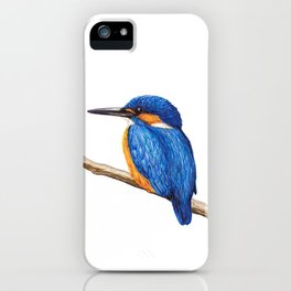 Kingfisher by Lars Furtwaengler | Ink Pen | 2011 iPhone Case