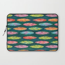 Feather Friends on Teal (pattern) Laptop Sleeve