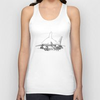 pilot Tank Tops featuring Pilot Fish by Eric Fan