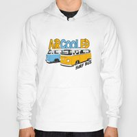 vw bus Hoodies featuring VW Camper Van Surf Bus by VelocityGallery