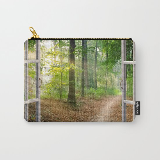Window Tapestries Style Carry-All Pouch
