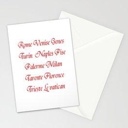 Italy's cities-Italy,Italia,Italian,Latine,Roma,venezia,venice,mediterreanean,Genoa,firenze Stationery Cards
