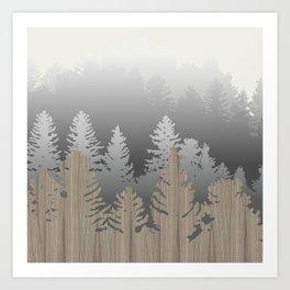 Treescape Large Square Art Print